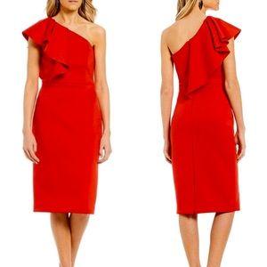 NWT Gianni Bini One Shoulder Ruffle Dress 12